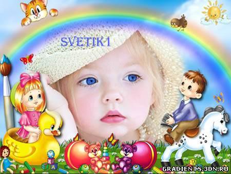 Детская рамка для фото - Игрушки, скачать бесплатно ...: http://gradients.3dn.ru/publ/ramki/detskaja_ramka_dlja_foto_igrushki/8-1-0-1393