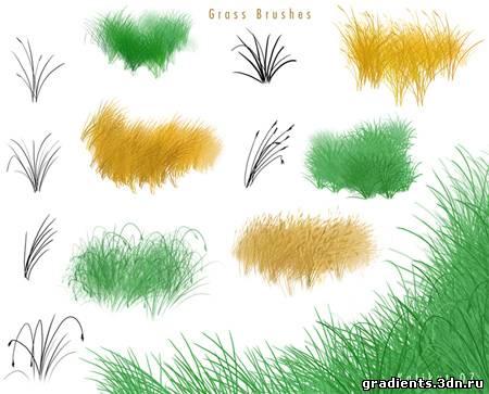 кисти для фотошопа трава скачать: